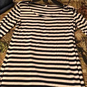 Pinkblush maternity striped shirt